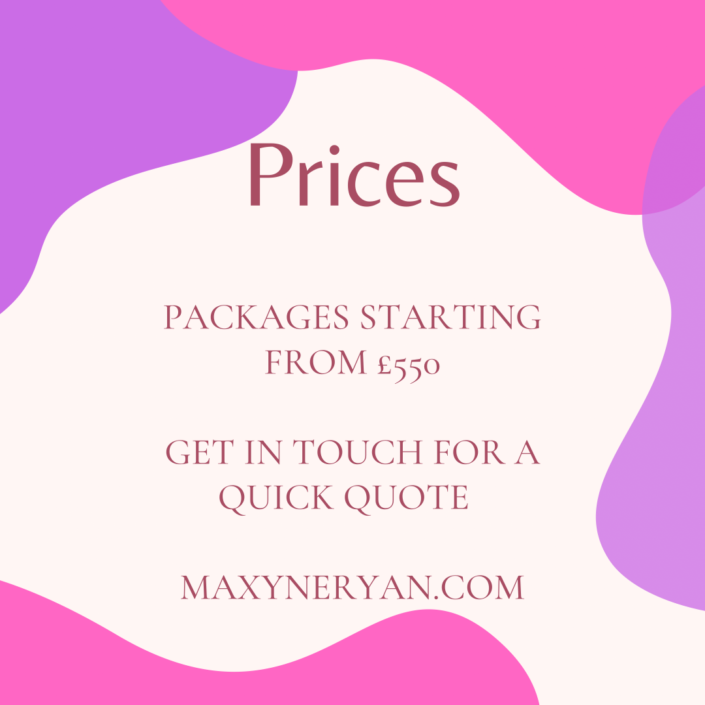 Event Package Prices from £550 poster